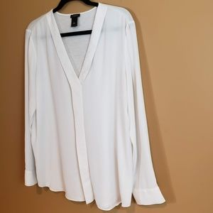 Ann Taylor XL  off white long sleeve tunic
